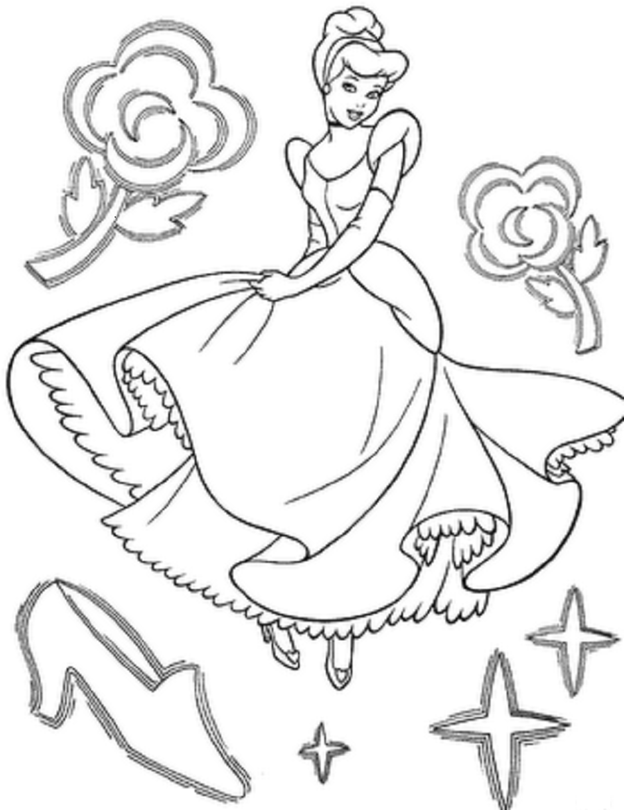 Coloring pictures cinderella - Cinderella Coloring Pages Printable