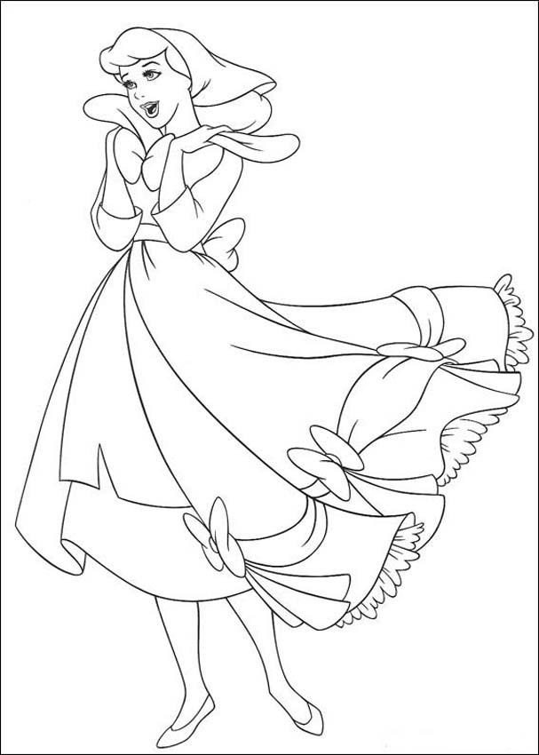 Free printable cinderella coloring pages for kids - Dessin cendrillon ...