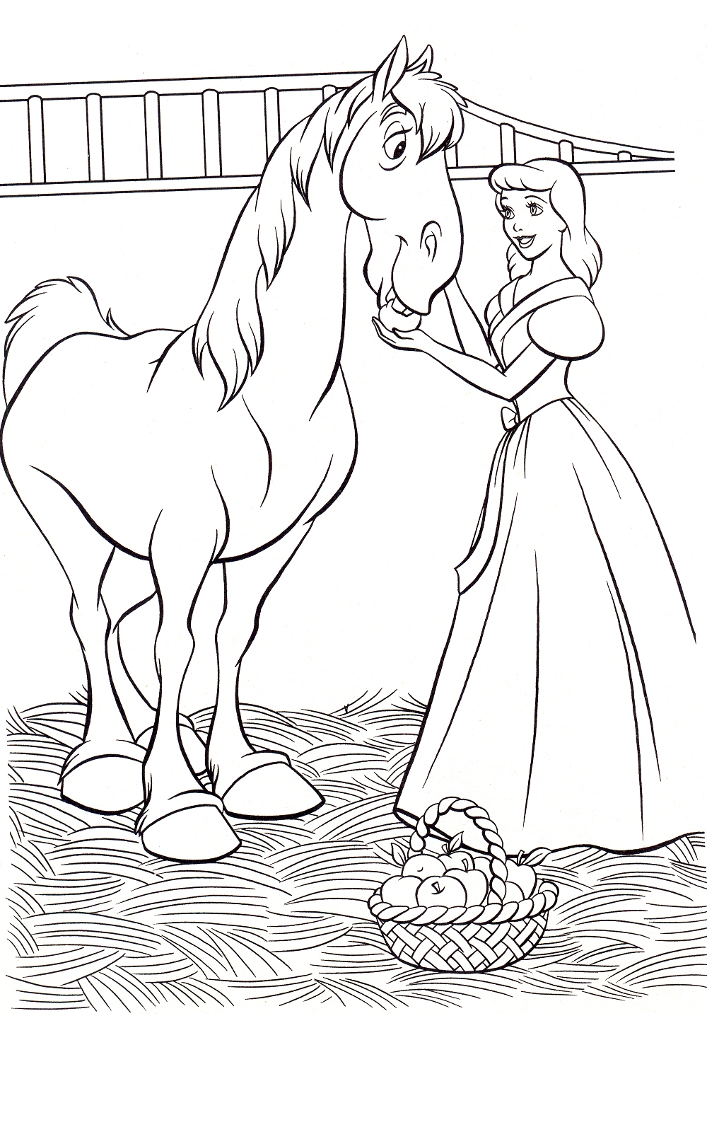 Free printable cinderella coloring pages for kids for Coloring pages toddler