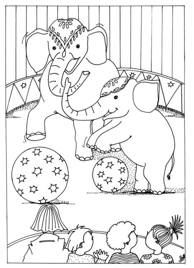 coloring pages of circus - photo#1
