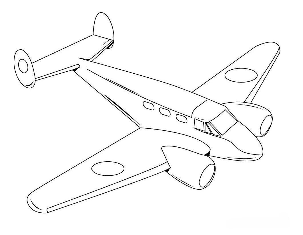 coloring airplane pages