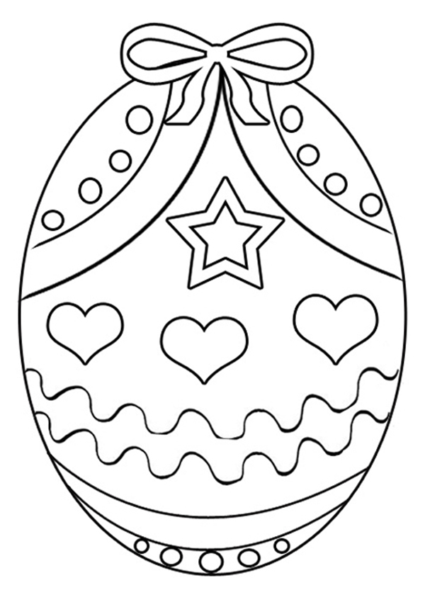 Coloring Pages For Easter Eggs Printable Cute Easter Coloring ...