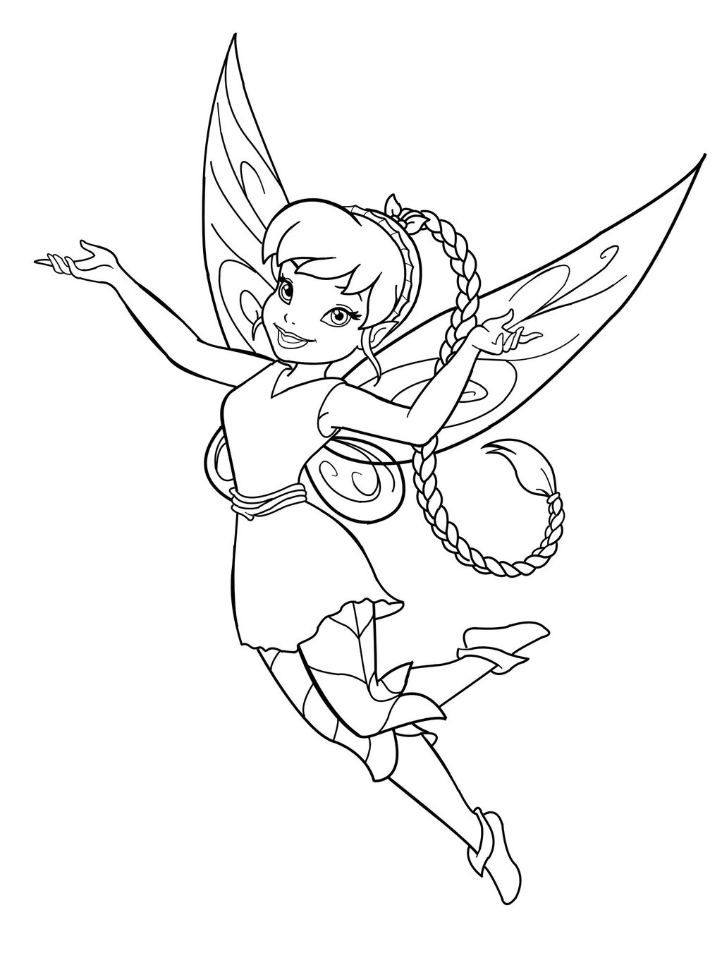printable fairie coloring pages - photo#7