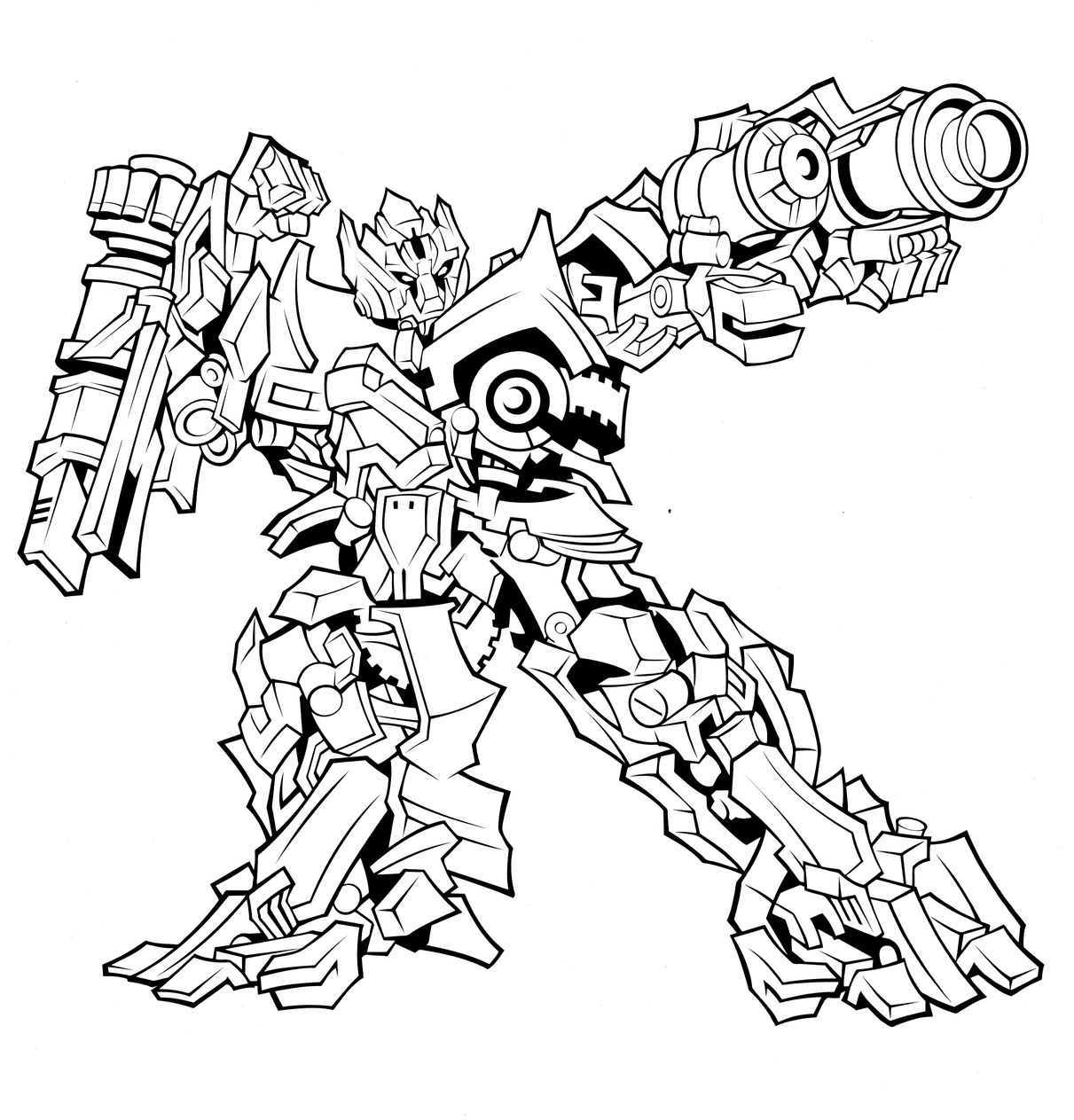 Transformer Coloring Pages Free Printable Transformers