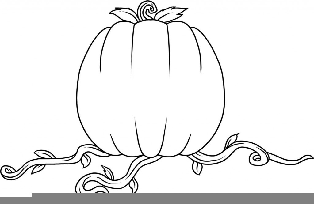 Coloring Page of Pumpkin