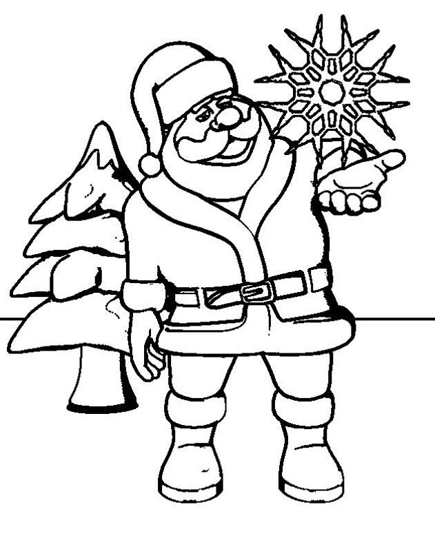 Coloring Page of Santa