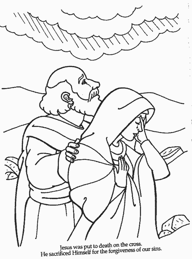 scripture coloring pages free - photo #30
