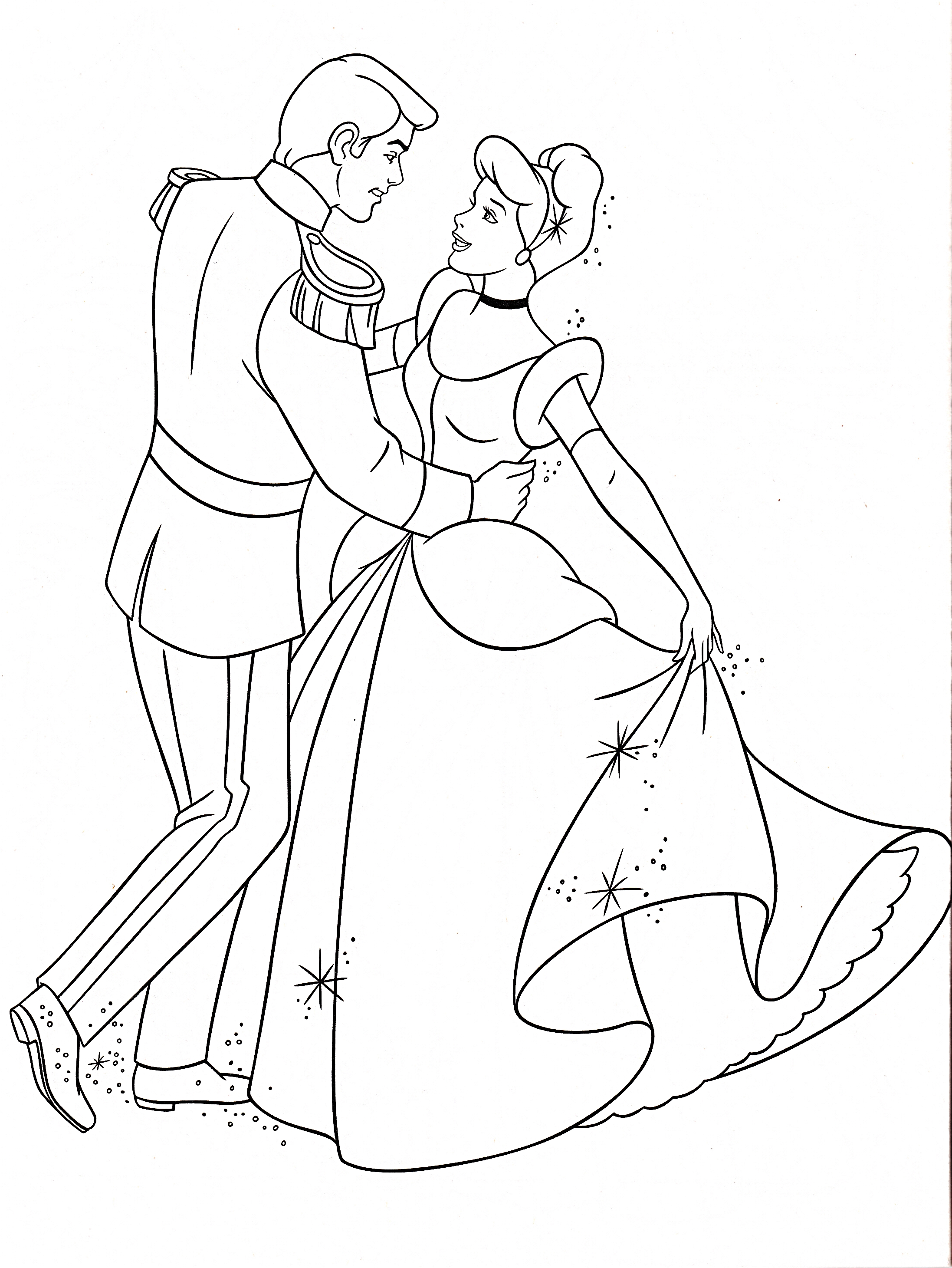 coloring book pages cinderella - photo#17