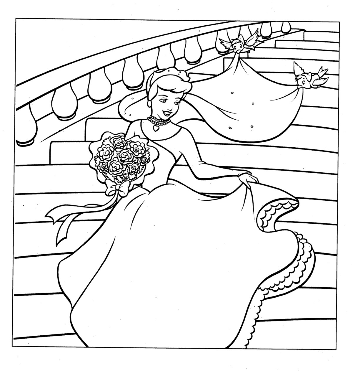 coloring pages cinderella - Cinderella Coloring Pages