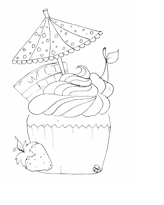 Coloring Pages Cupcake For Kids