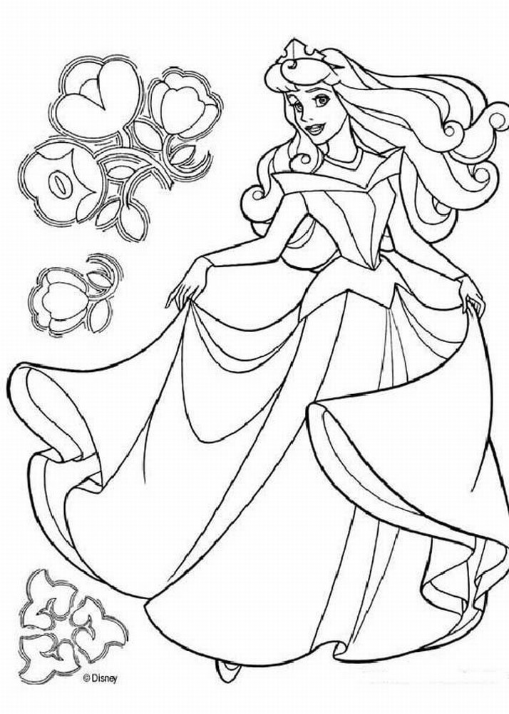 kids disney princess coloring pages - photo#11