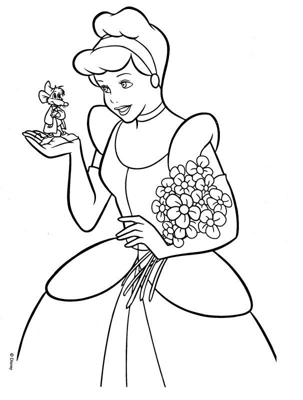 Cinderella Coloring Picture Disneys Princess Coloring Pages