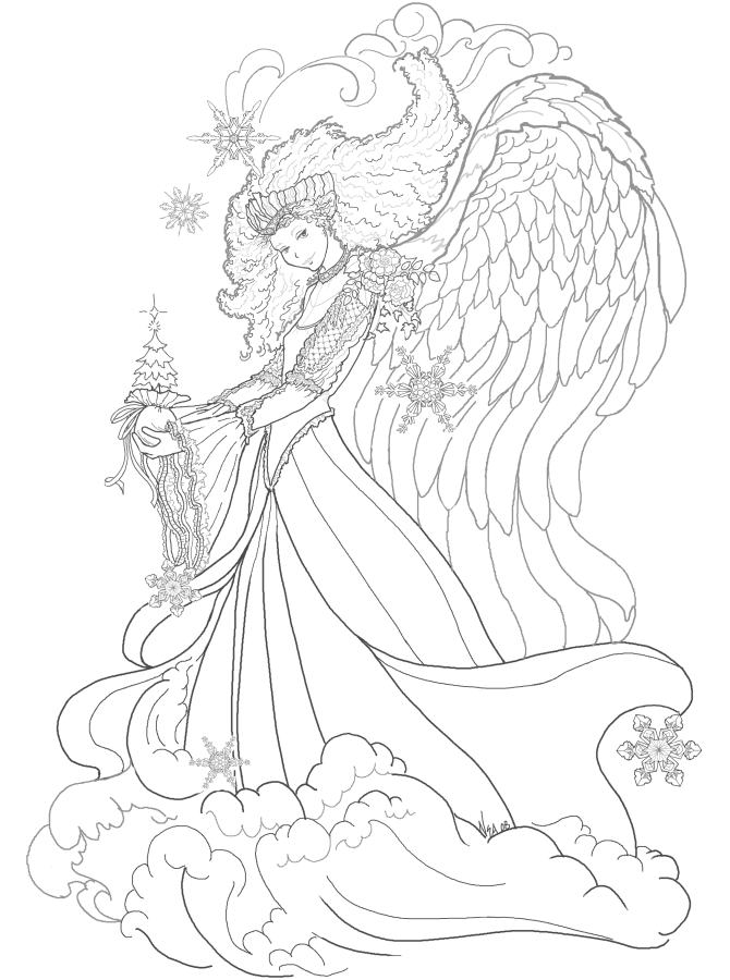 free fairy coloring pages - photo#25