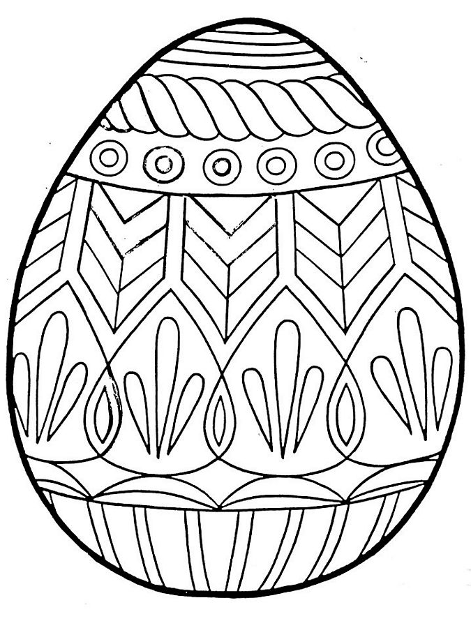 Bright image for free printable easter egg coloring pages