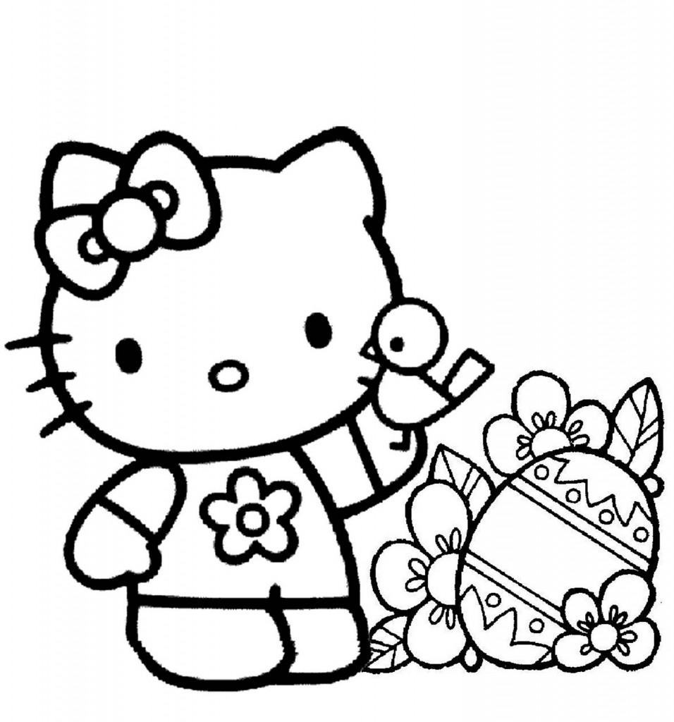Coloring Pages Kitty : Free printable hello kitty coloring pages for kids