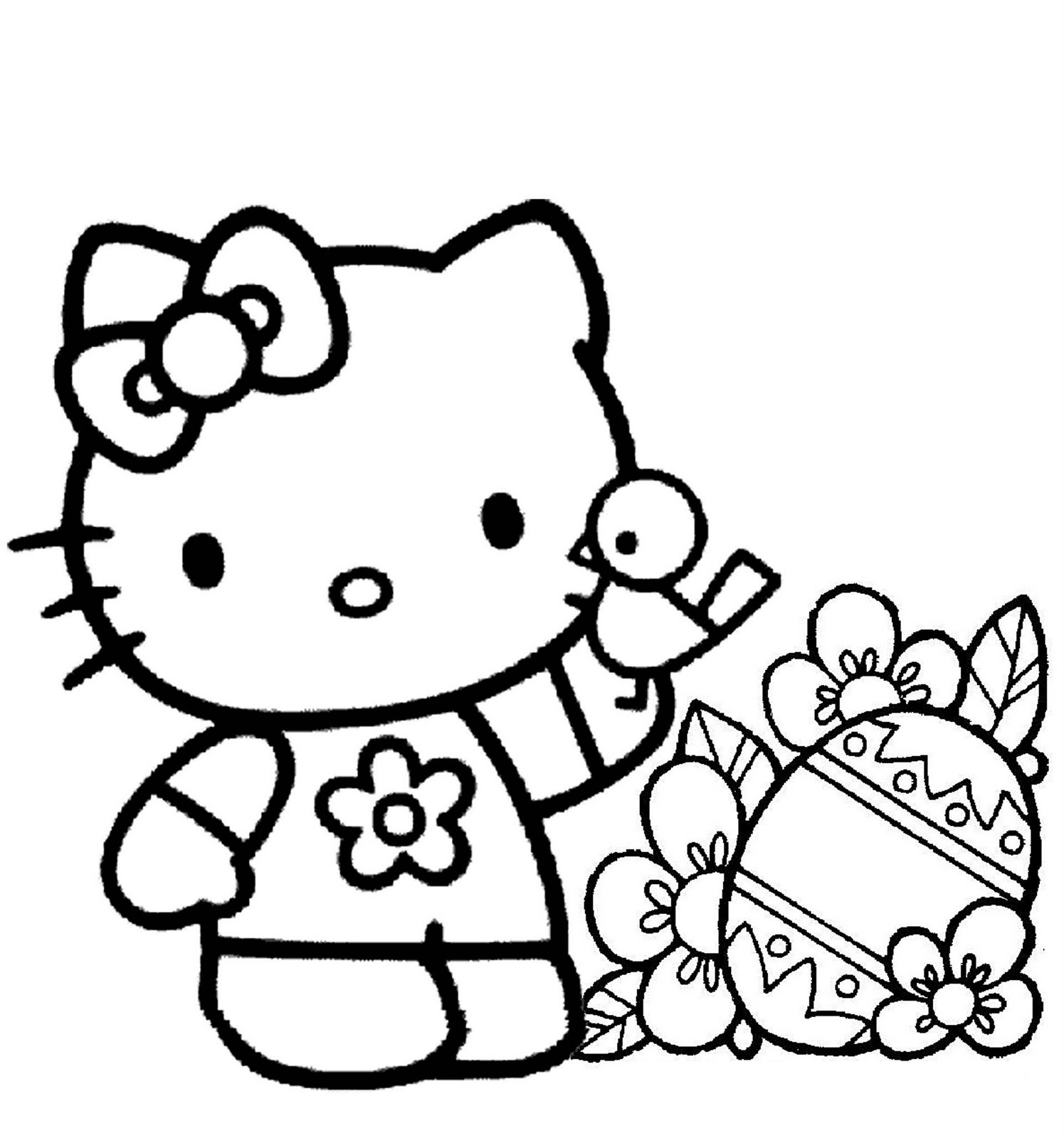 pretty hello kitty coloring pages - photo#18