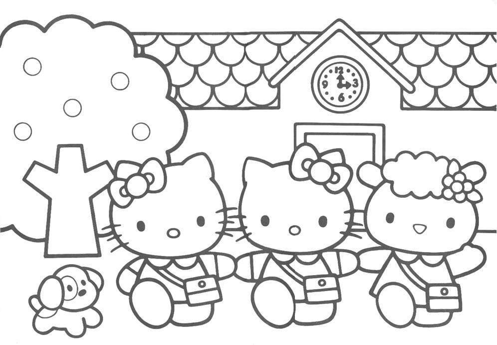 coloring pages hello kitty - Colouring Pages Of Hello Kitty