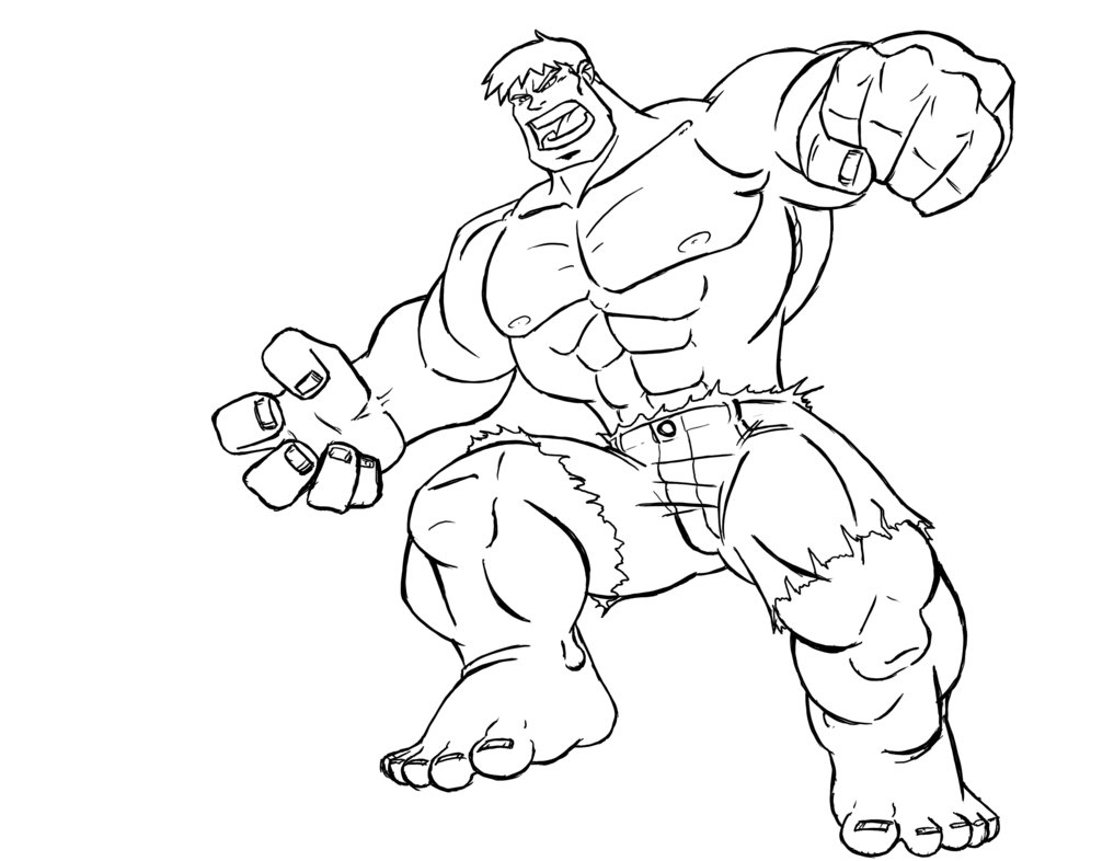 coloring pages incredible hulk - photo#31