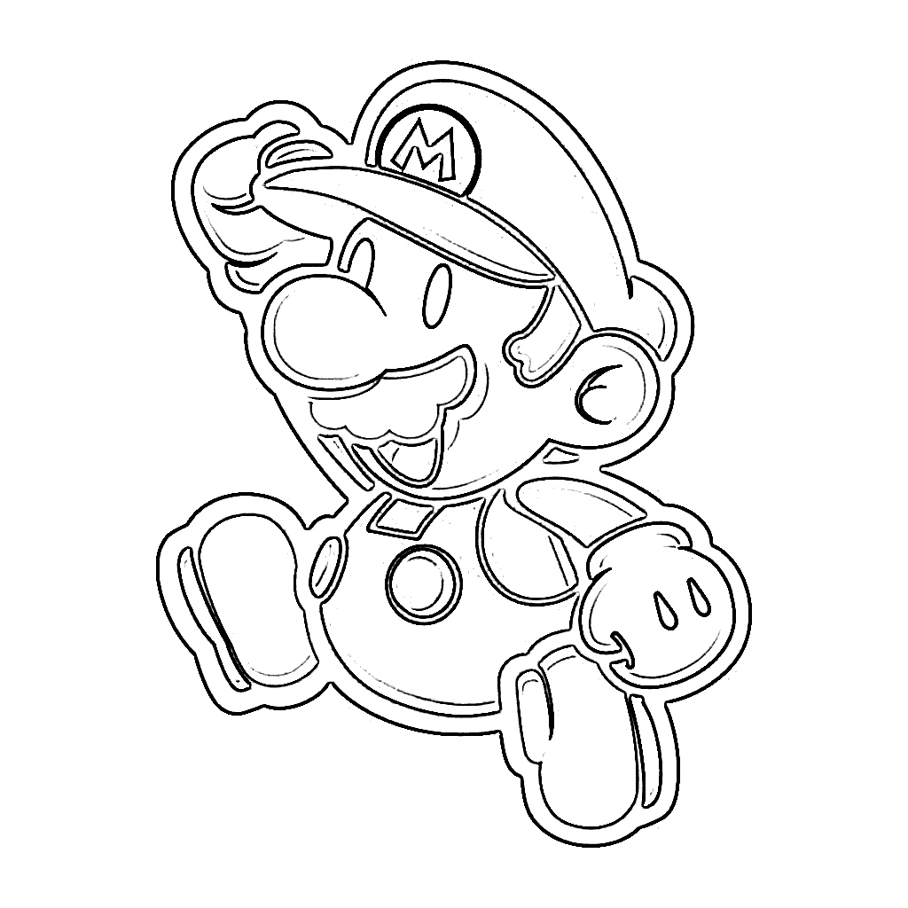 free printable mario coloring pages for kids - Free Cool Coloring Pages