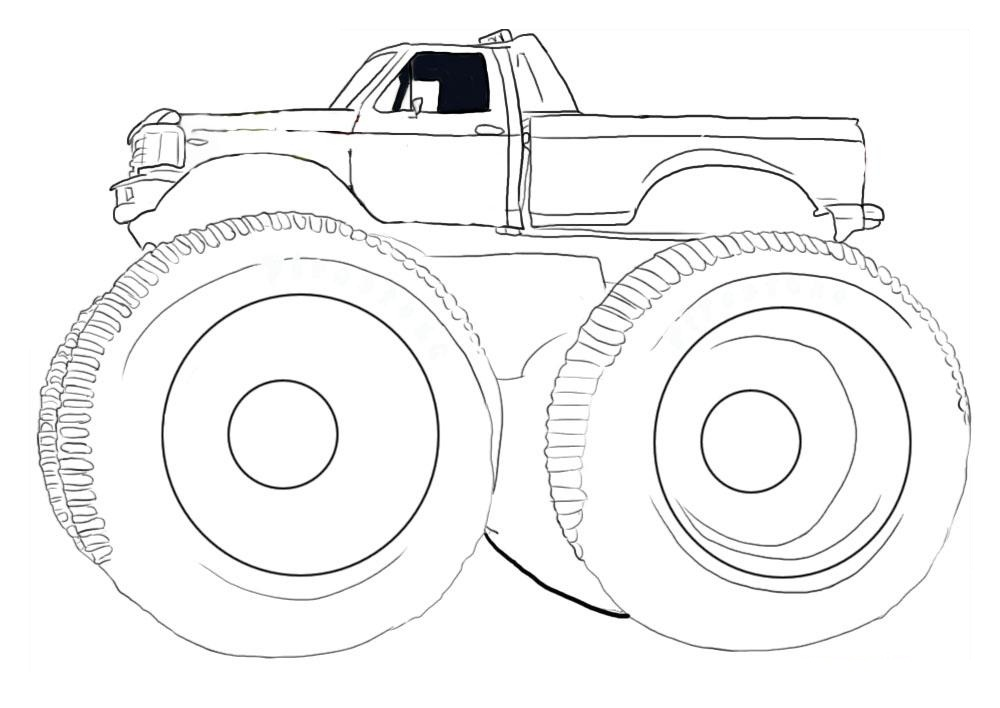 coloring pages monster truck - Monster Truck Coloring Pages Easy