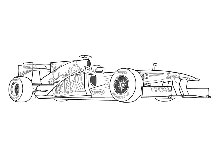 Coloring Pages Racing Cars