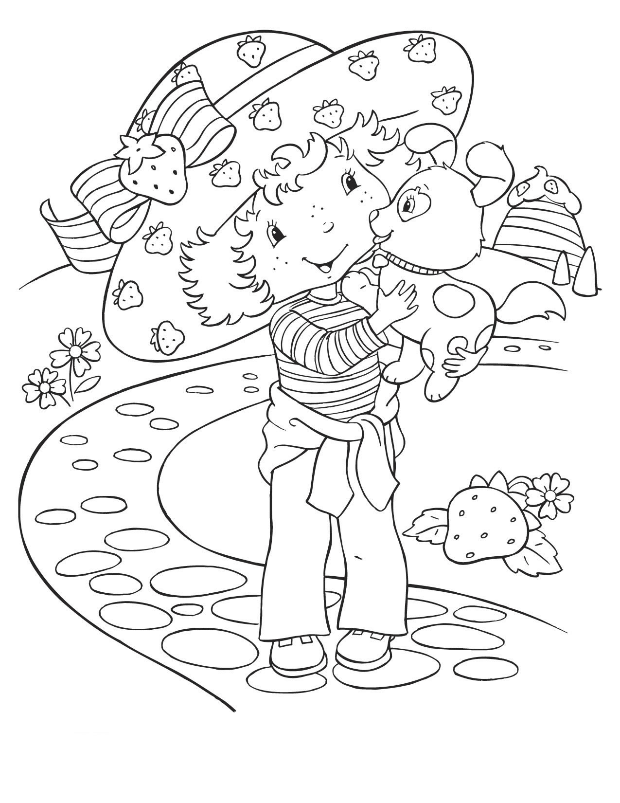 strawberry shortcake coloring pages free - photo#10