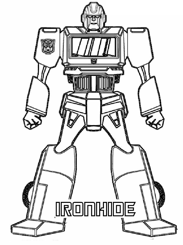 transformers coloring pages car and robot free printable