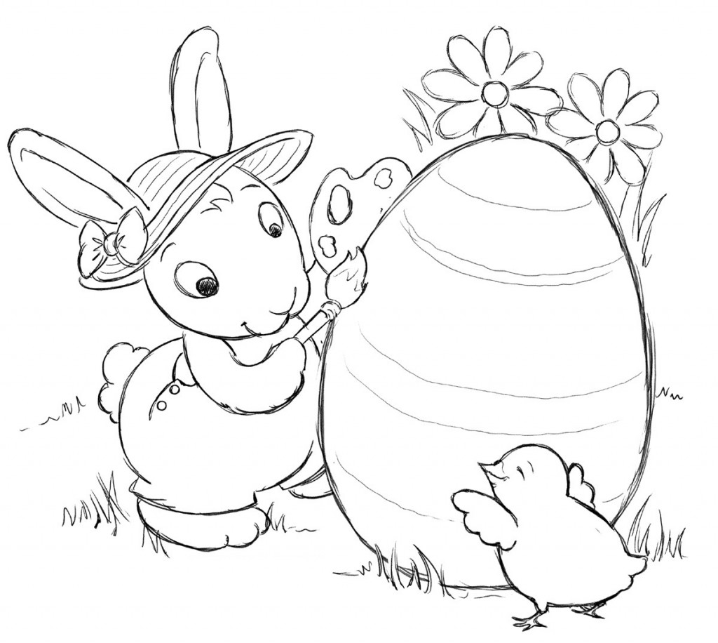 Coloring Pages of Easter Bunny