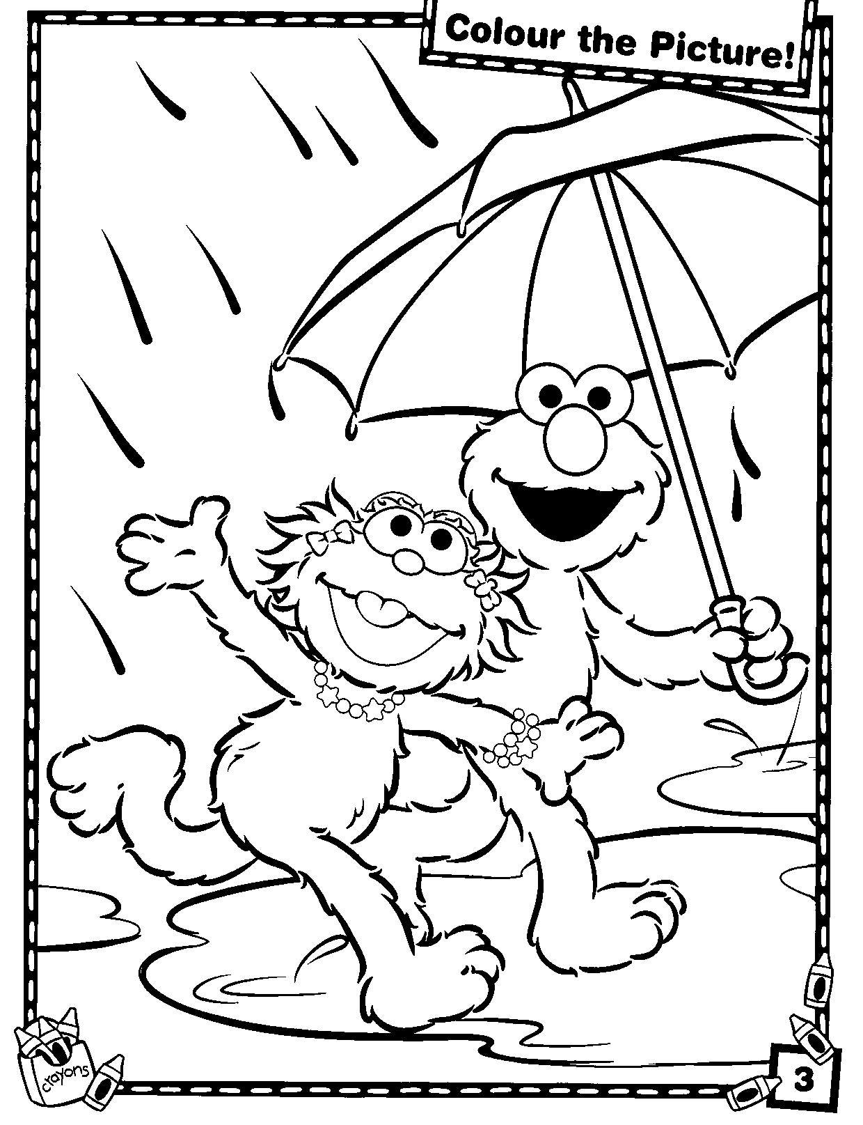 Coloring Pages Of Elmo To Print