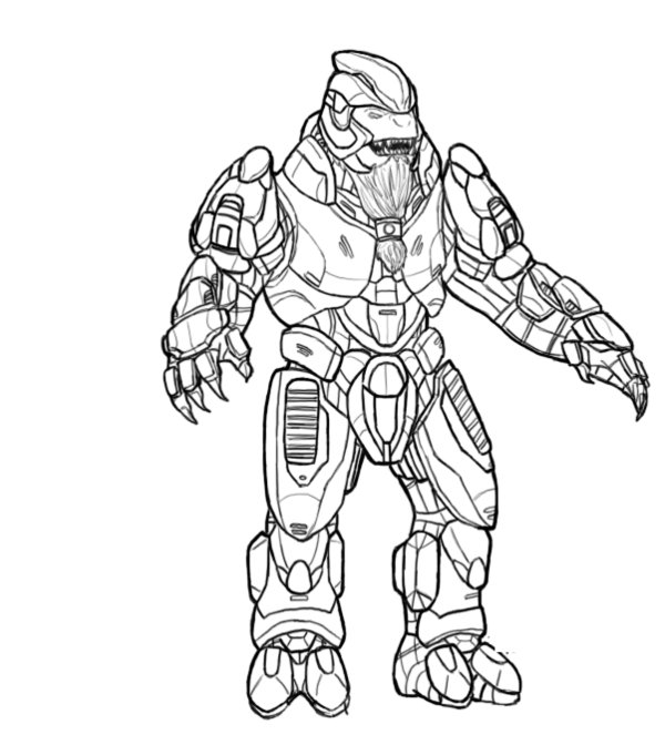 halo color pages. Coloring Pages of Halo For Kids Free Printable