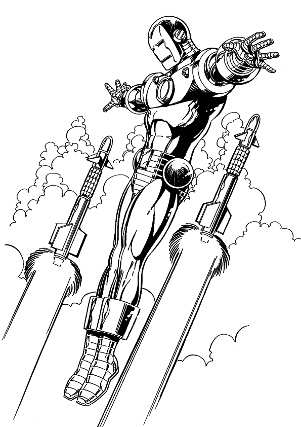 Iron Man Mark  Coloring Pages #1