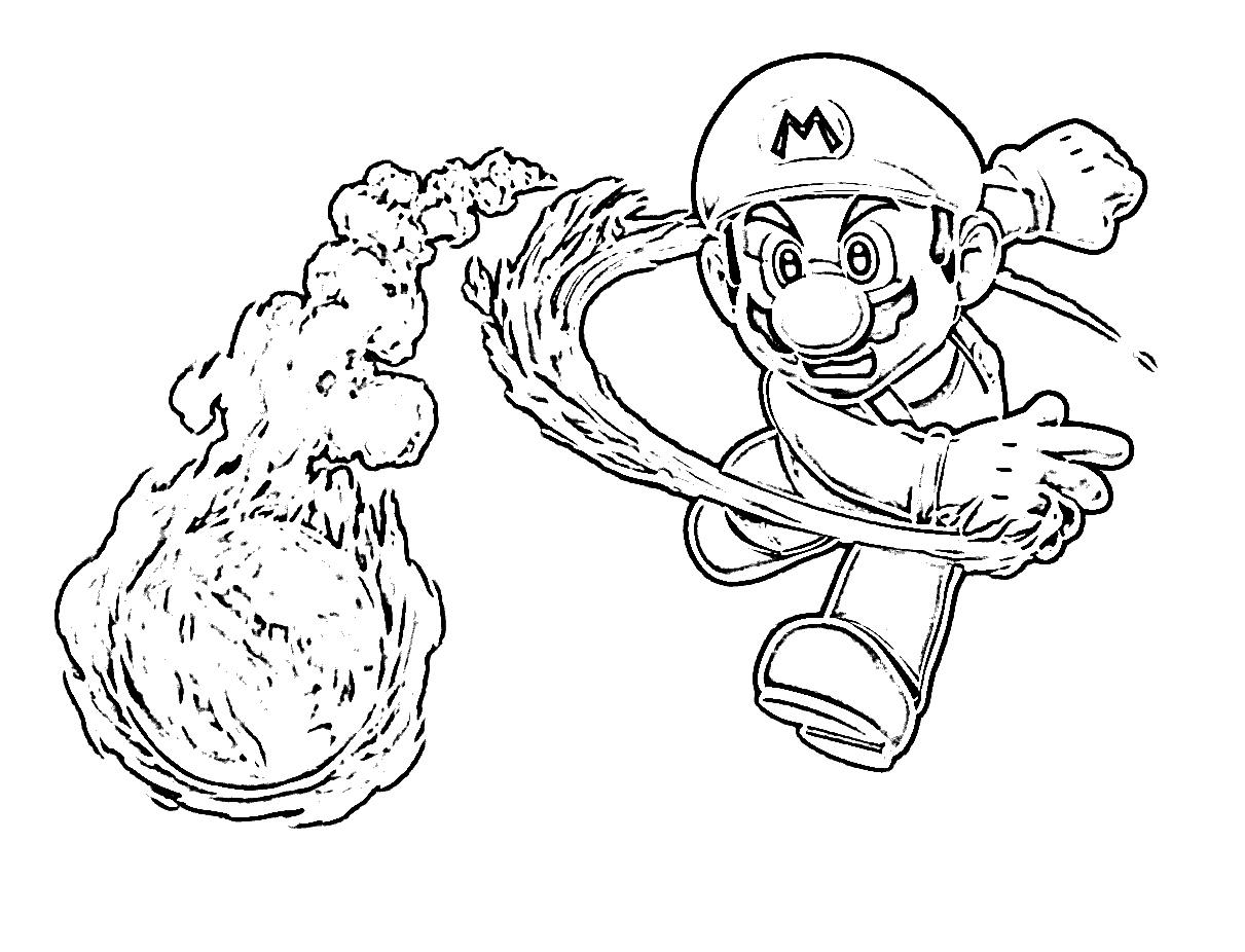 Clip Art Super Mario Printable Coloring Pages free printable mario coloring pages for kids of mario