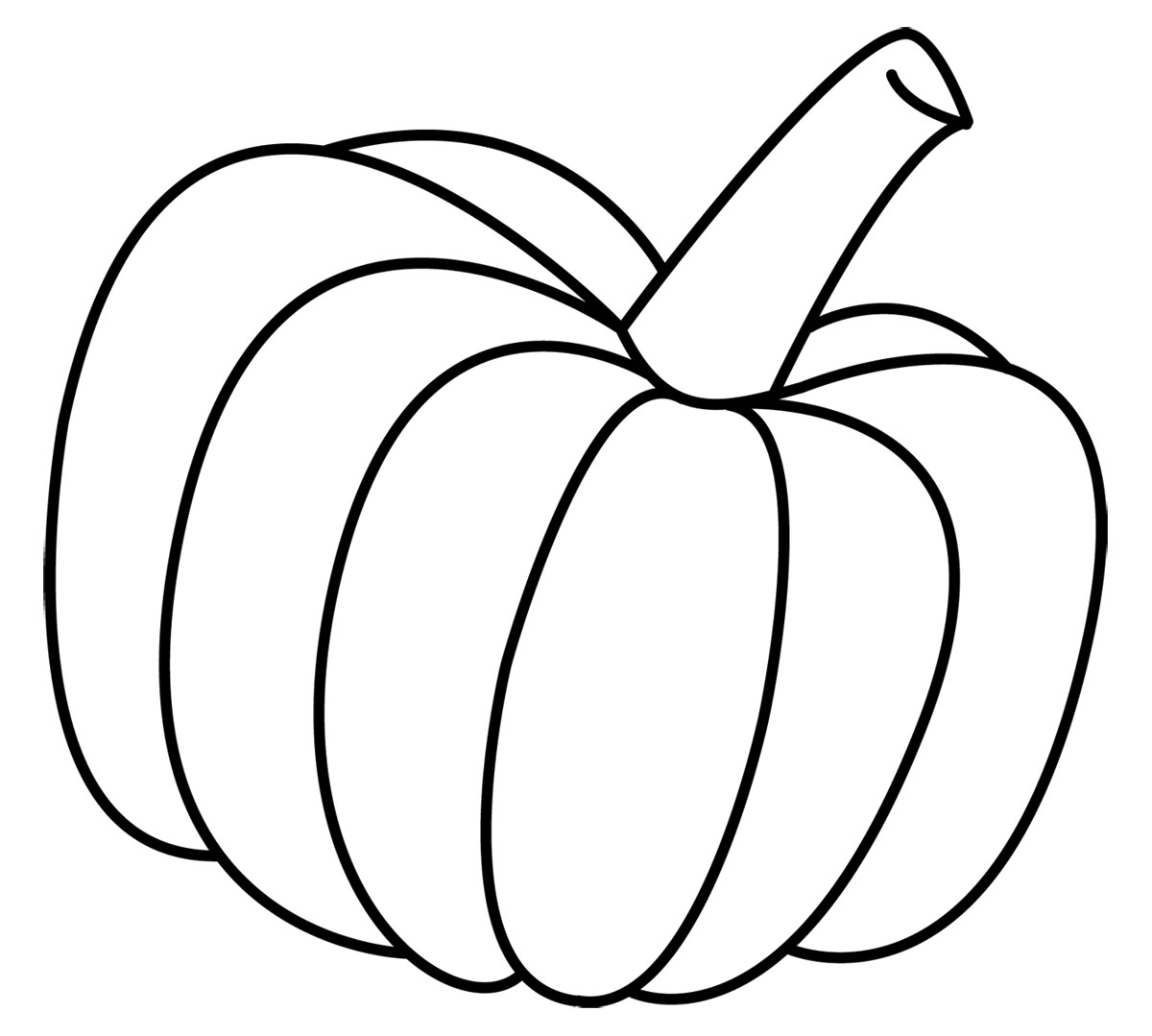 Free Coloring Pages of PumpkinsHalloween Clip Art Black And White Pumpkin