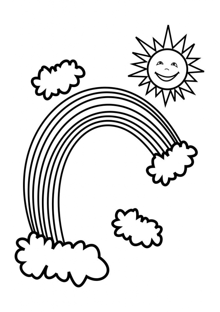 Coloring Pages of Rainbow