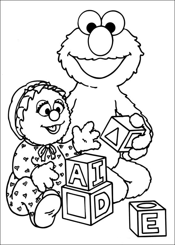 seasme street coloring pages - photo#41