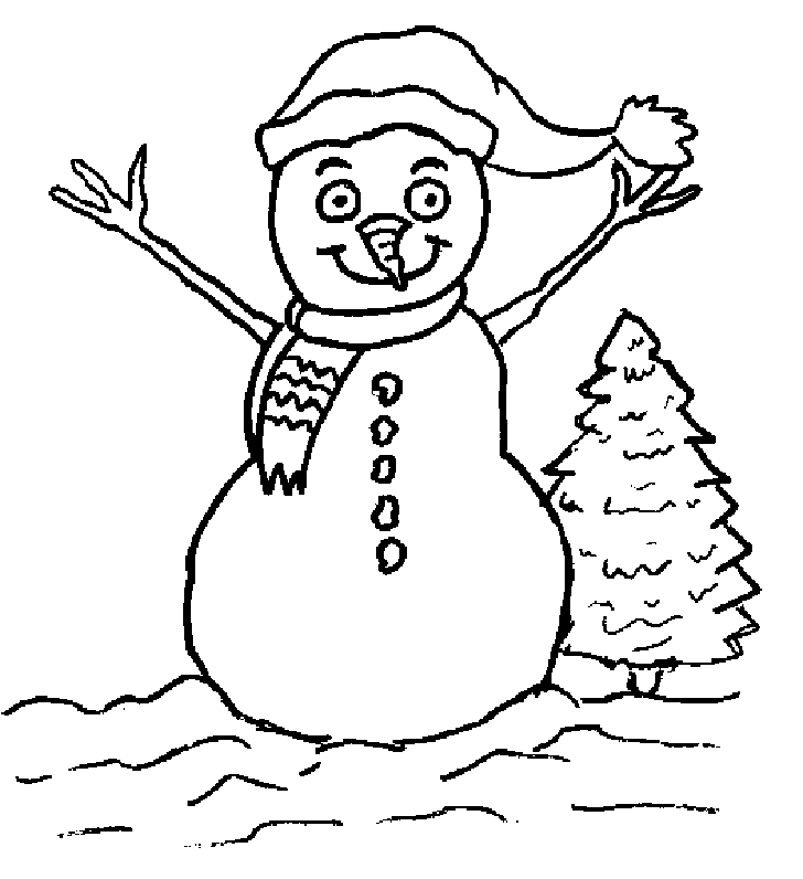 snowmen coloring pages children - photo#28