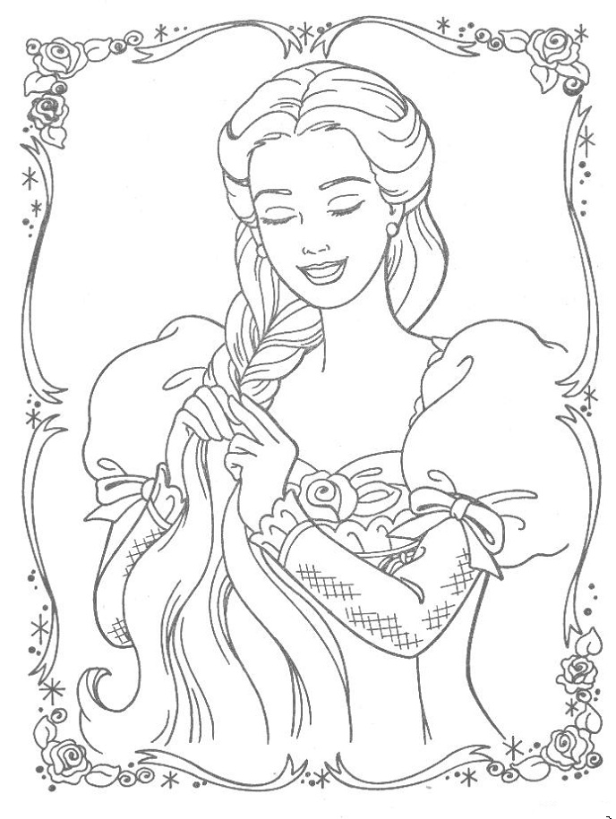 tangled coloring pages disney - photo#46