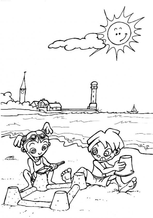 Coloring Pages of The Beach