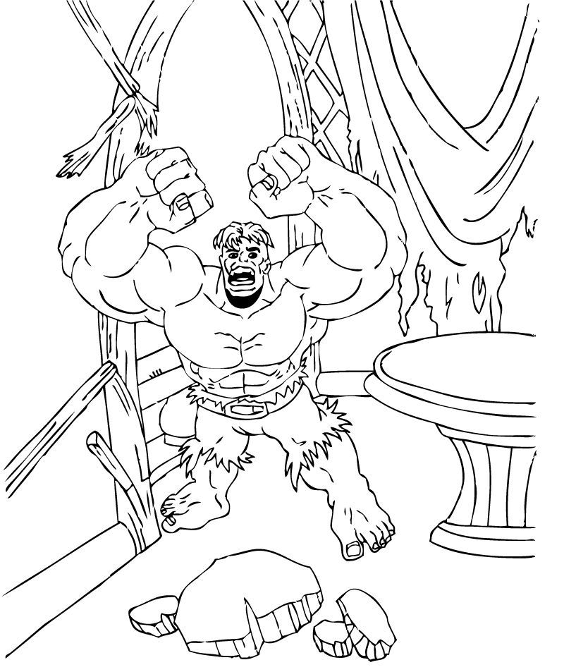 Coloring Pages of The Incredible Hulk