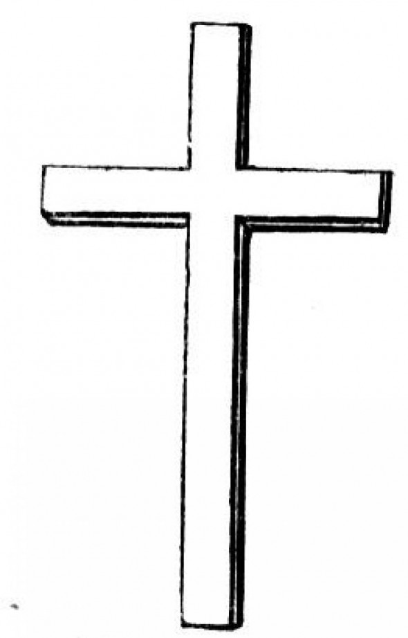 Cross Coloring Page Pictures