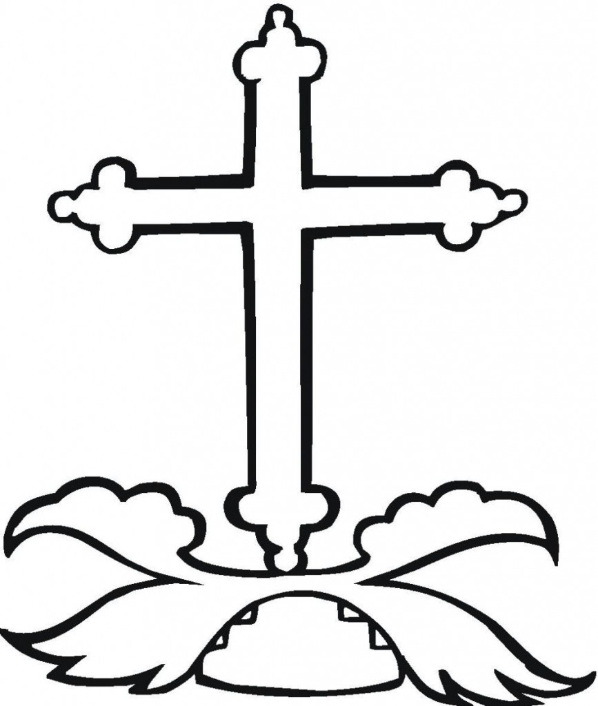 Cross Coloring Pages Printble