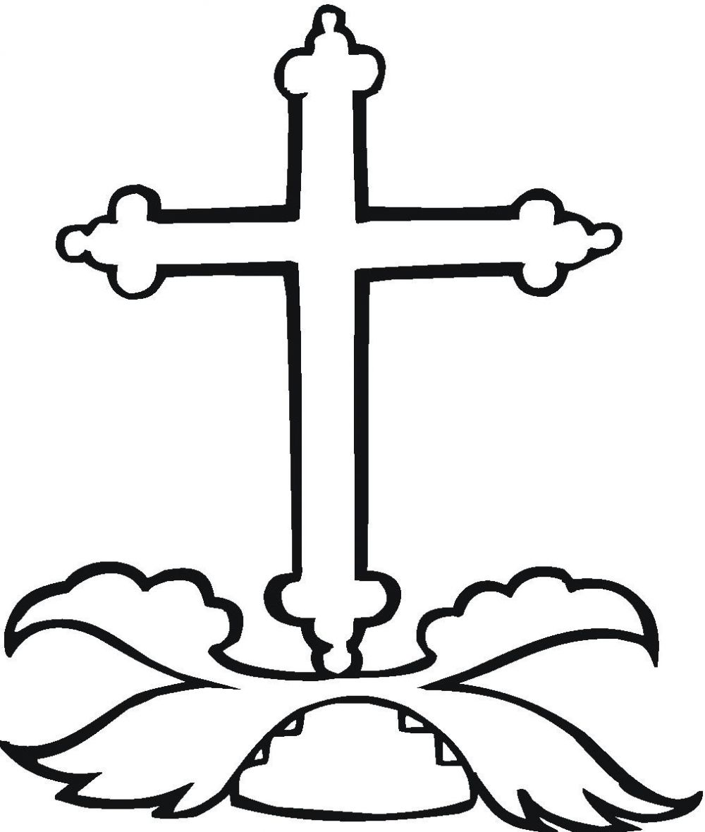 Printable coloring pages of crosses - Cross Coloring Pages Printble