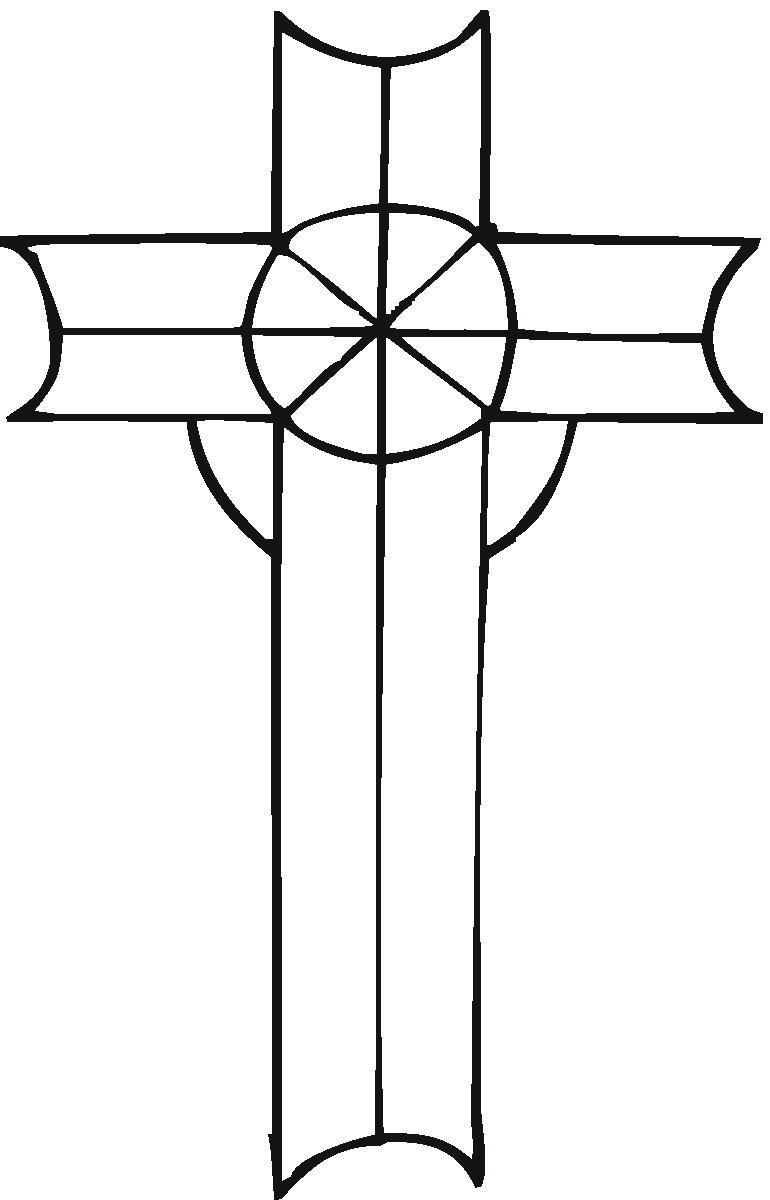 Printable coloring pages of crosses - Cross Coloring Pages To Print