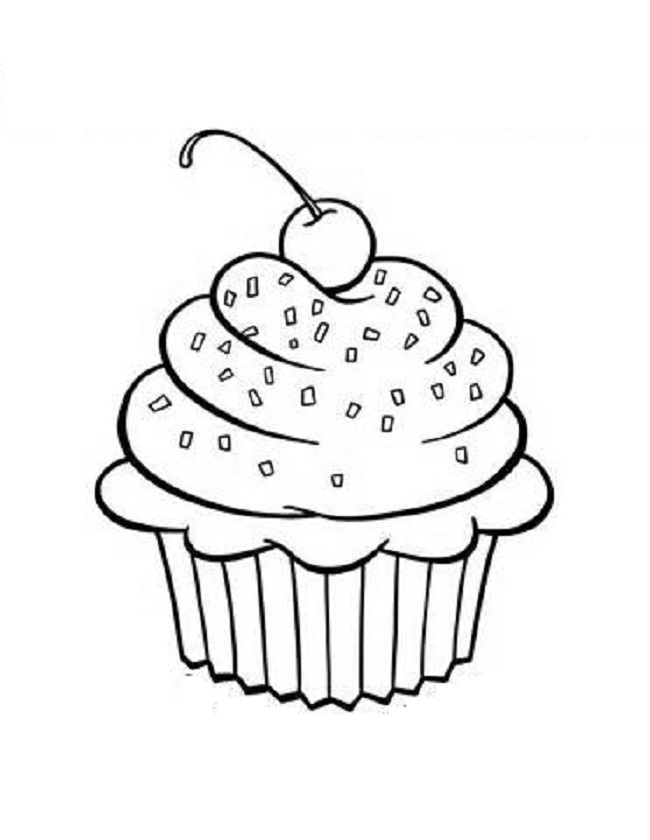 cupcake coloring pages pictures - Cupcakes Coloring Pages