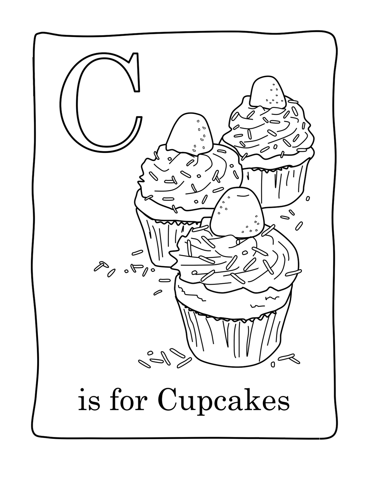 cupcake coloring pages printable - Cupcakes Coloring Pages Printable