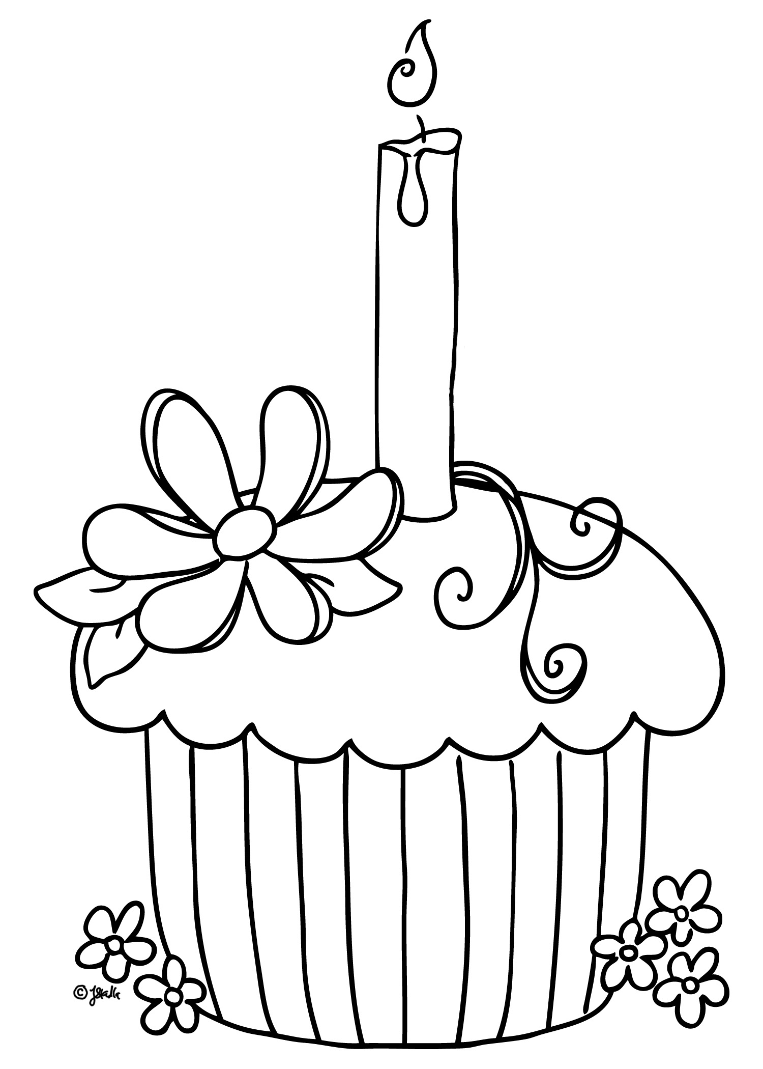 Colouring Pages For Cupcakes : Free Printable Cupcake Coloring Pages For Kids