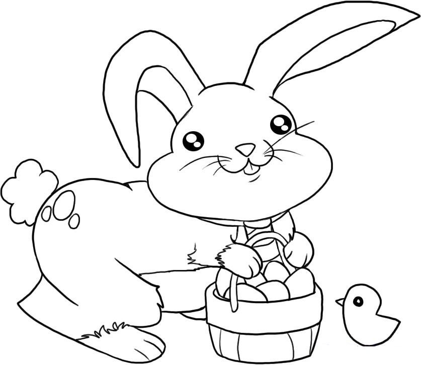cute easter bunny coloring pages - Free Coloring Pages Of Easter