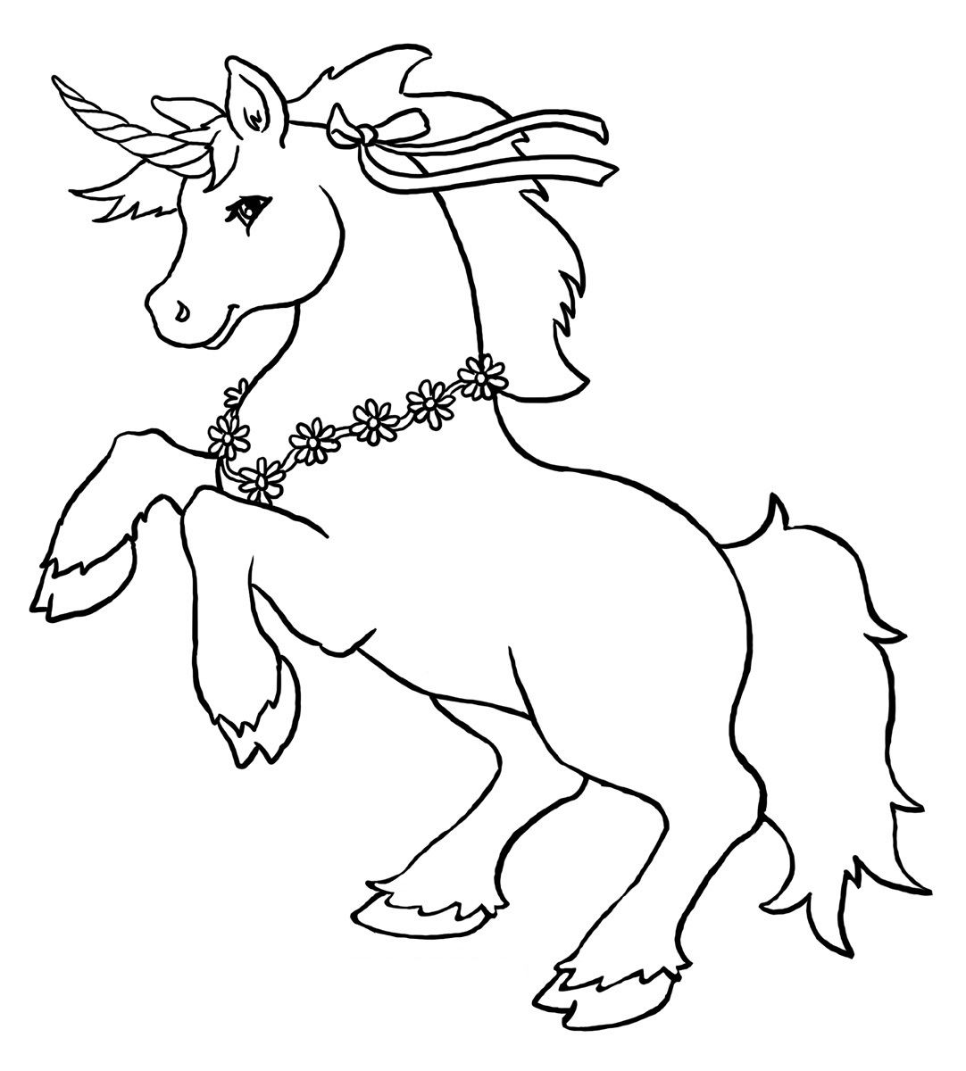 Magical unicorn coloring pages - Cute Unicorn Coloring Pages