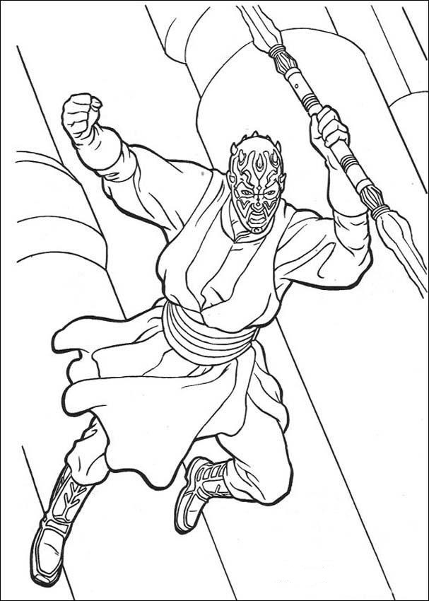 Darth Maul - Star Wars Coloring Pages
