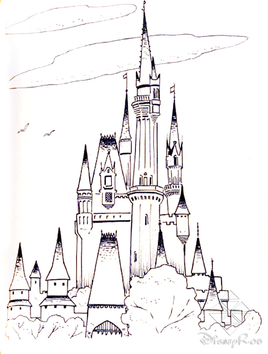 Coloring pages for toddlers sleeping - Disney Castle Coloring Pages
